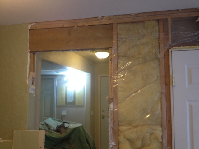 Due To The Width Of The Pocket Door Frame And The Fact That The Wall Was  Weight Bearing, I Had To Put A Longer Header In. Then I Buttoned Up The Old  ...